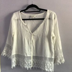 American Eagle Outfitters white blouse